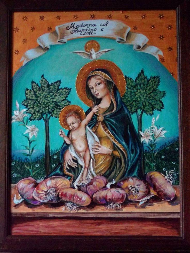 Madonna col Bambino e cipolle