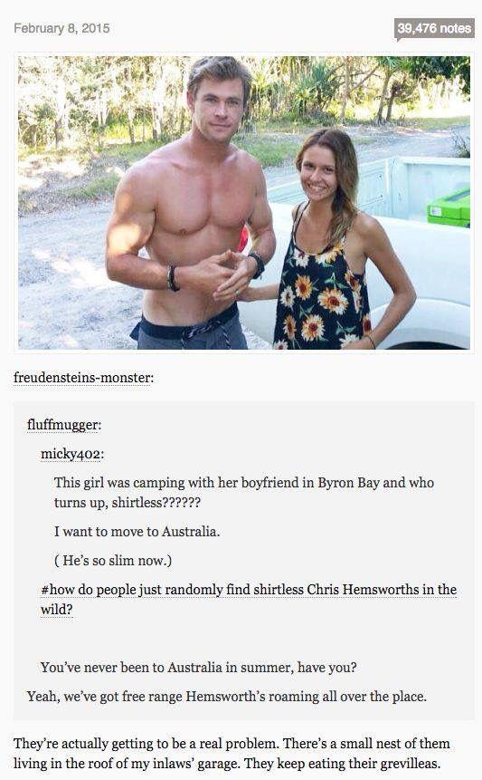 Random Shirtless Chris Hemsworth