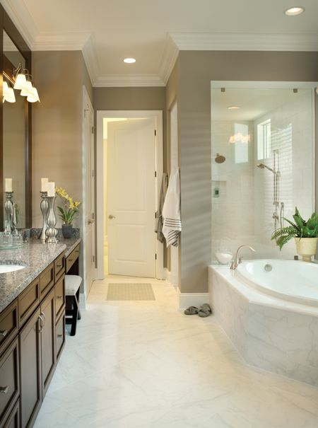 Make Photo Gallery Luxury Custom Home Photo of Model Asheville Click to view other models at Master Bath