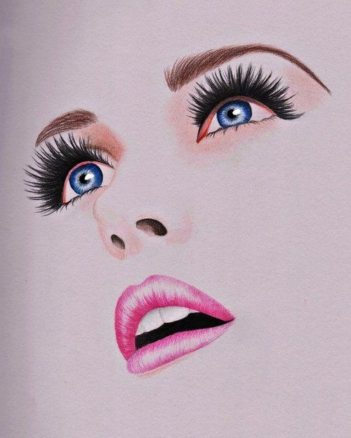 Drawing Scribble Face : Pretty hair makeup and nails pinterest beautiful