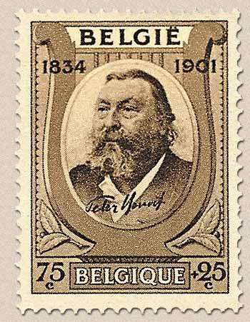 belgian stamps 100st Anniversary of Birth of Peter Benoit.