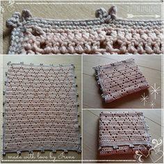 DutchLittleDots - Irene Haakt: Diamond Dreams Blanket (met gratis patroon) dekentje babydeken baby deken rand gehaakt gehaakte haken haakpatroon haak