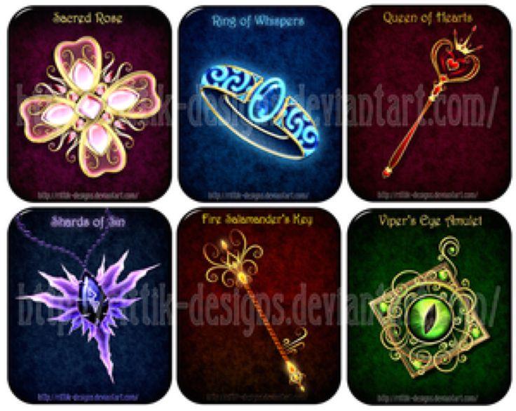 Amuletten voor magische wezens, mogelijk bezitten ze magische of helende krachten. bij Rittik-Designs van DeviantArt