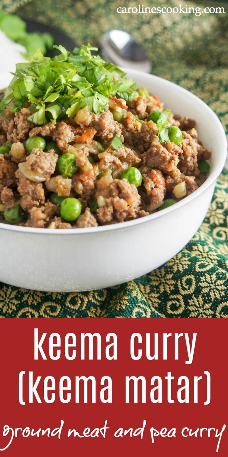 Keema Curry Keema Matar Is A Delicious Indian Pakistani Ground Meat And Pea Curry Easy To Make And With Plen Keema Recipes Lamb Recipes Indian Food Recipes