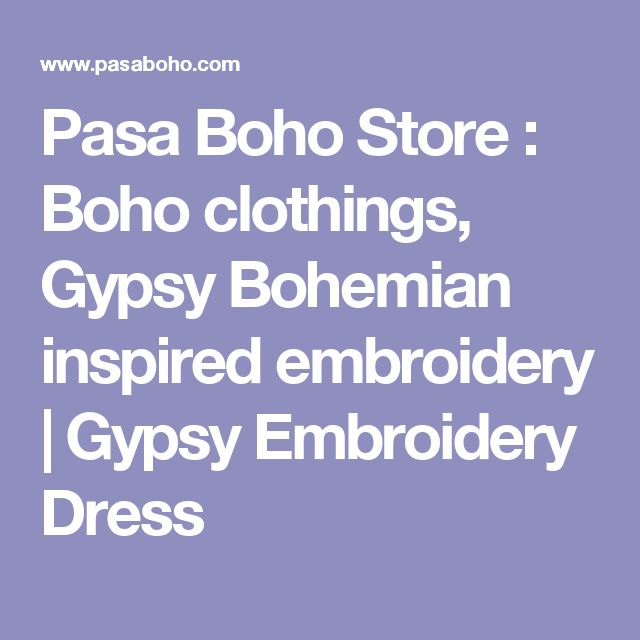 Pasa Boho Store : Boho clothings, Gypsy Bohemian inspired embroidery | Gypsy Embroidery Dress
