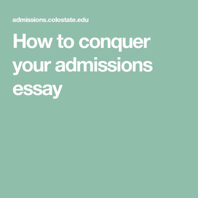 Colorado admissions essay