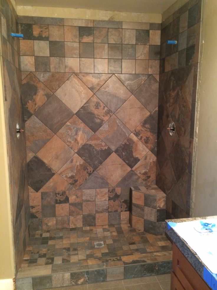 Shower Floor Tiles Which Why And How: 77 Best Images About Slate Tile Showers On Pinterest