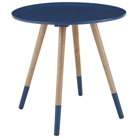 Spoke Side Table Small  Petrol Blue