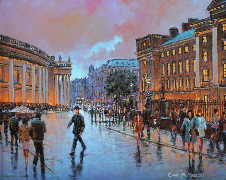 College Green by Chris McMorrow (code-220) - PRINT