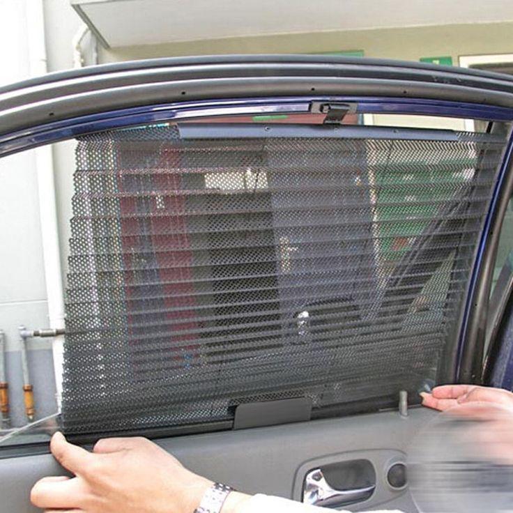 2016 neue Autofenster Sonnenschutz Vorhang Schwarz Seite Heckscheibe Mesh Masken-schild Autofenster Sonnenschutz ME3L