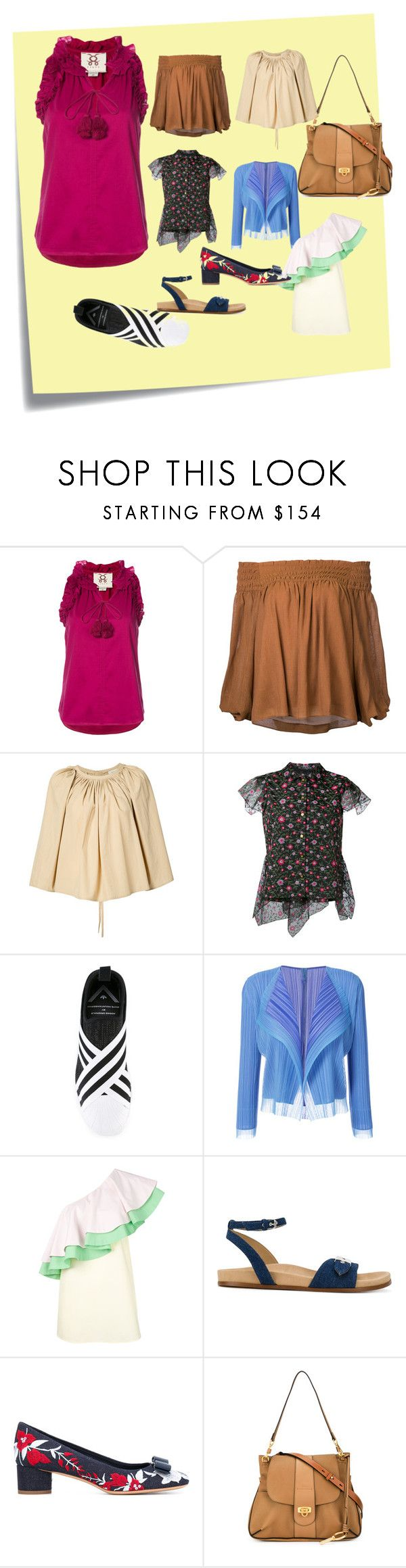 """""""tops for sale"""" by ramakumari ❤ liked on Polyvore featuring Post-It, Figue, Estnation, Lemaire, Kolor, adidas Originals, Pleats Please by Issey Miyake, VIVETTA, STELLA McCARTNEY and Salvatore Ferragamo"""