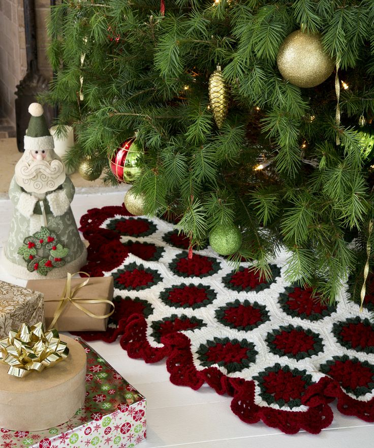 Easy Crochet Christmas Tree Skirt: 65 Best Images About Free Christmas Crochet/Knit Afghan