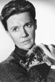Jeanette Nolan and goat.