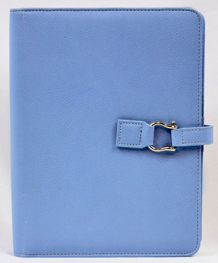 "Franklin Covey Planner Organizer Classic Calendar 365 Light Blue Snap 1"" Rings 7 #FranklinCovey"