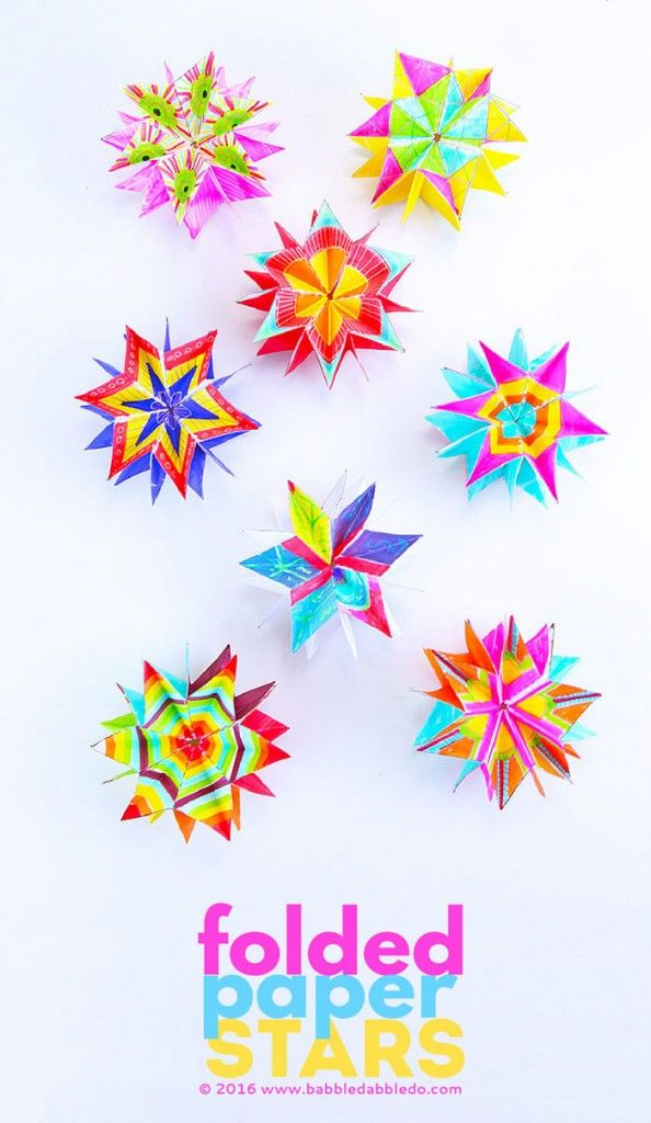 25 best ideas about paper stars on pinterest origami for Paper folding art projects