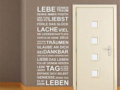 Wandtattoo Motivation Familie Wohnzimmer Flur Diele Sprüche Zitat M1330 kupfer 120cm x 48cm