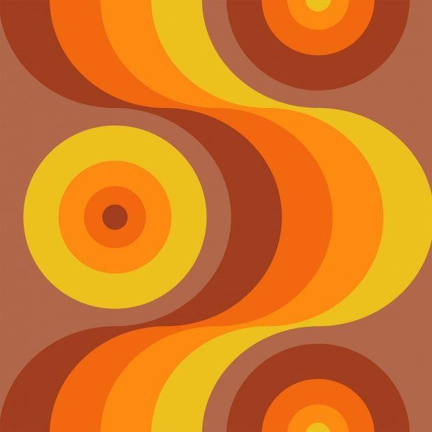 Retro Orange - Wall Mural & Photo Wallpaper - Photowall
