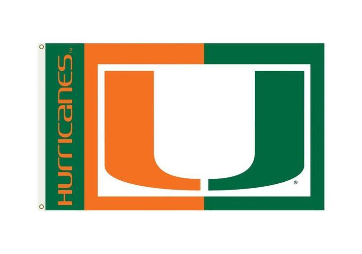 Miami Hurricanes Flag 3x5