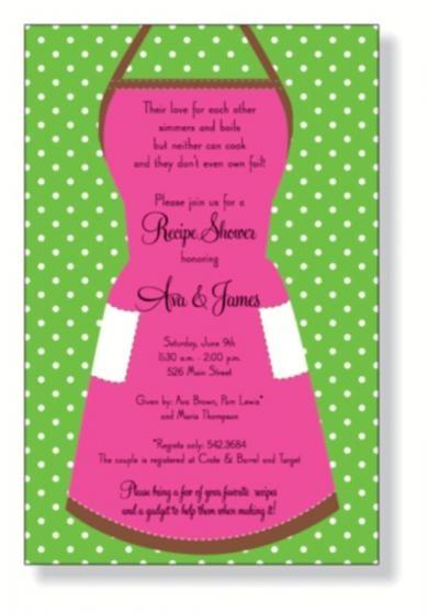 Retro Apron Bridal Shower Invitations By Invitation Duck