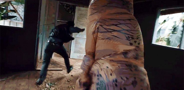 Parkour in a T-rex Costume Is the Jurassic Park Sequel We Really Deserved