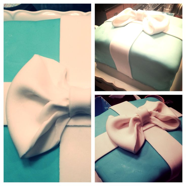 Tiffany blue bridal shower cake