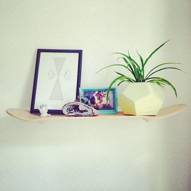 Une planche de skate en étagère #madecoamoi #pourchezmoi