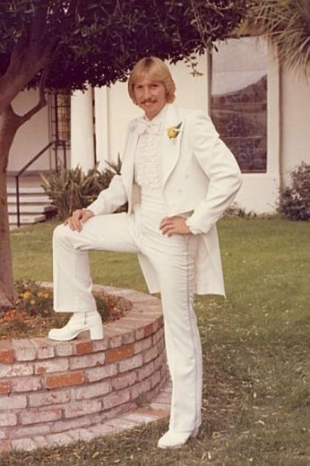 This is what my husband and our groomsmen wore (not the boots, tho) in our wedding back in 1982.The bridesmaids wore white Gunne Sax dresses.