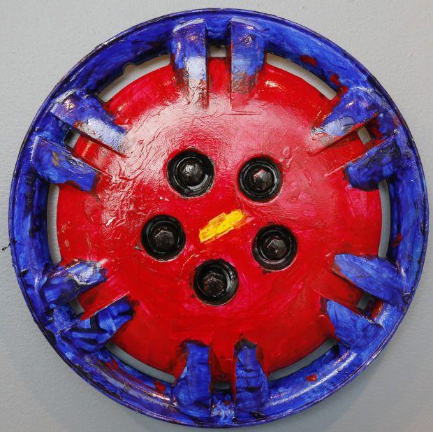 Hubcap Art at the Sioux City Art Center