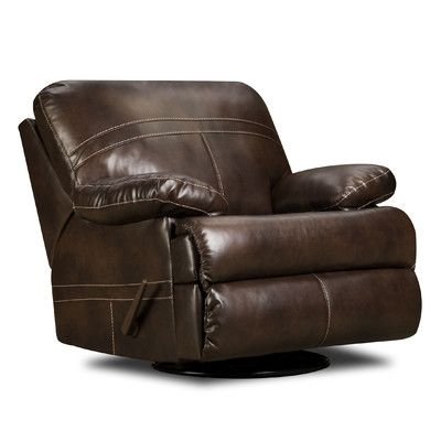 A nice recliner/rocker for the inside wall... Andy's Chair  Simmons Upholstery Miracle Swivel Glider Recliner