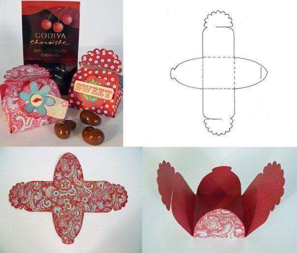 Упаковка для сладостей - Шаблоны.Коробки.Упаковки .