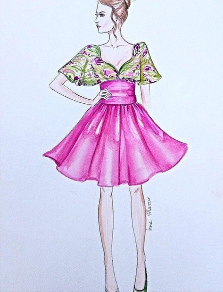 Mejores 74 imágenes de Ilustraciones Fashion en Pinterest   Bocetos ...