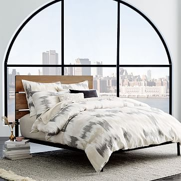 Industrial Headboard #westelm -- this idea but with a hollywood frame!