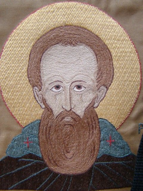 A detail of the embroidery icon