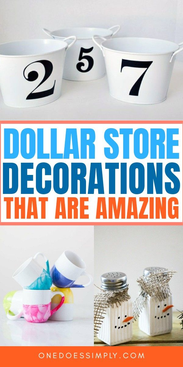 DIY Dollar Store Home Decor Ideas That Are Easy and Inexpensive!