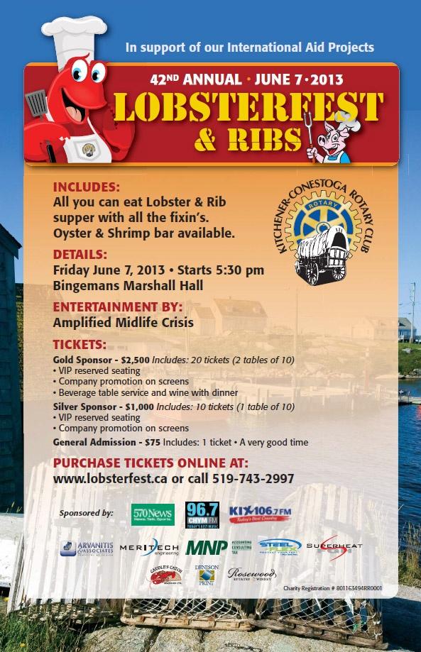 Kitchener Lobsterfest & Ribs  http://www.ticketscene.ca/events/8590/