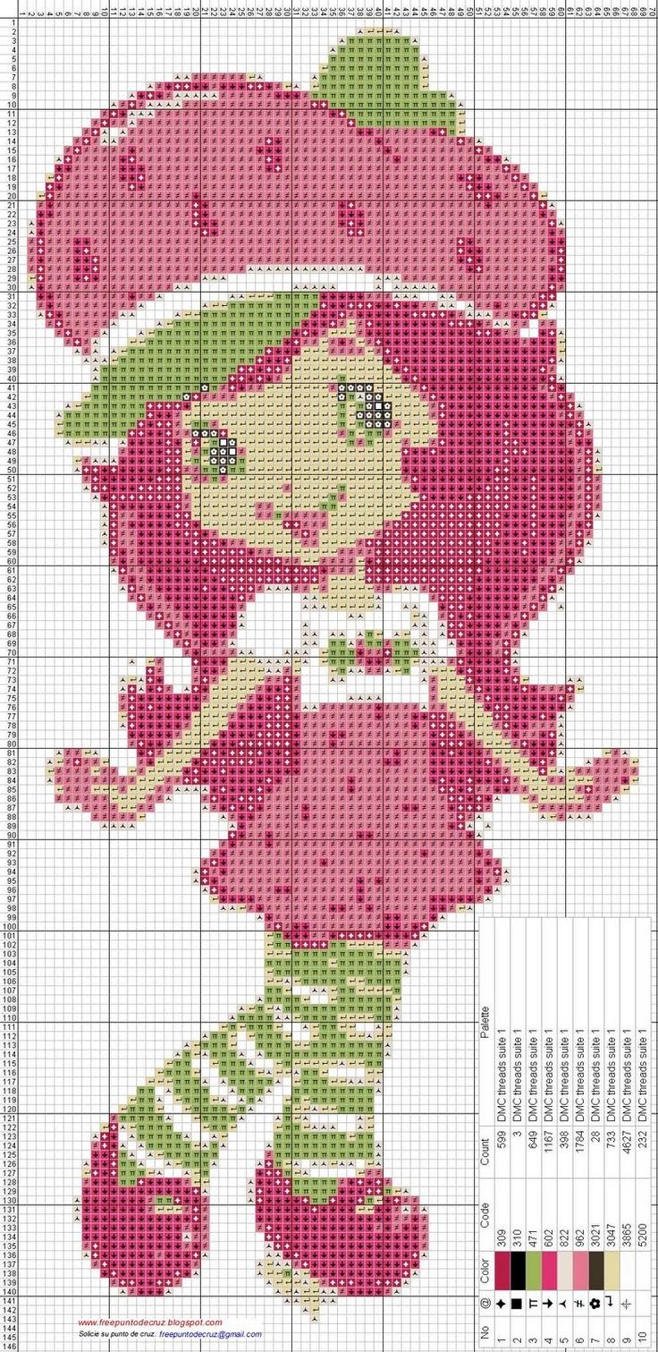 Strawberry Shortcake cross stitch