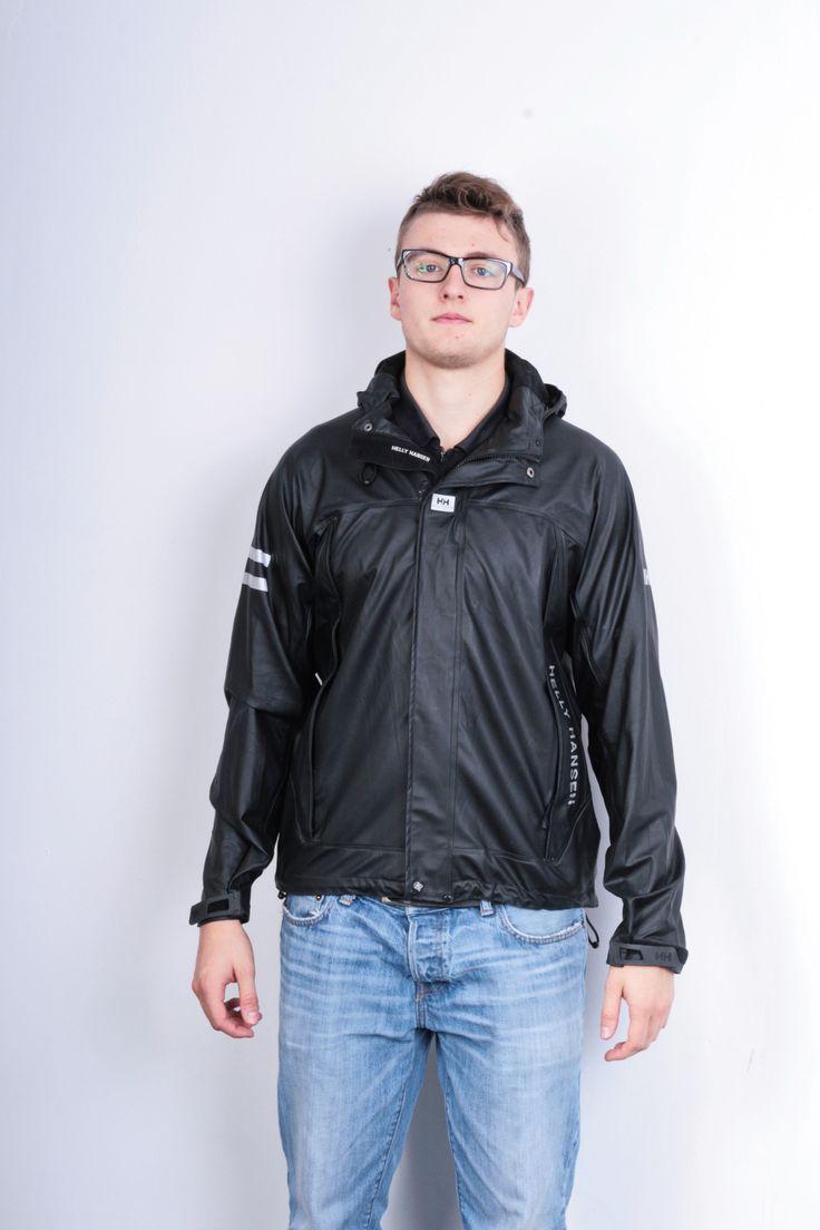 Helly Hansen Mens S Jacket Hood Black Waterproof Sailing Anorak