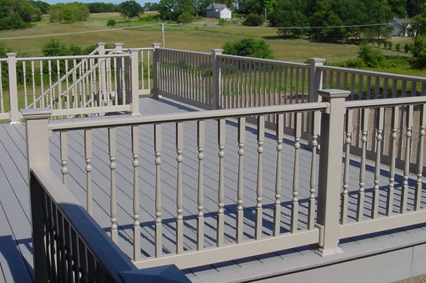 Best 20 Outdoor Stair Railing Ideas On Pinterest: 17 Best Images About Lovely Vinyl Porch And Deck Railing