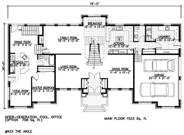 House plans with mother in law suites and a mother for Mother daughter house design