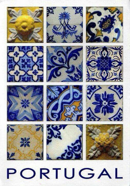 I am in LOVE with these Portuguese tiles.
