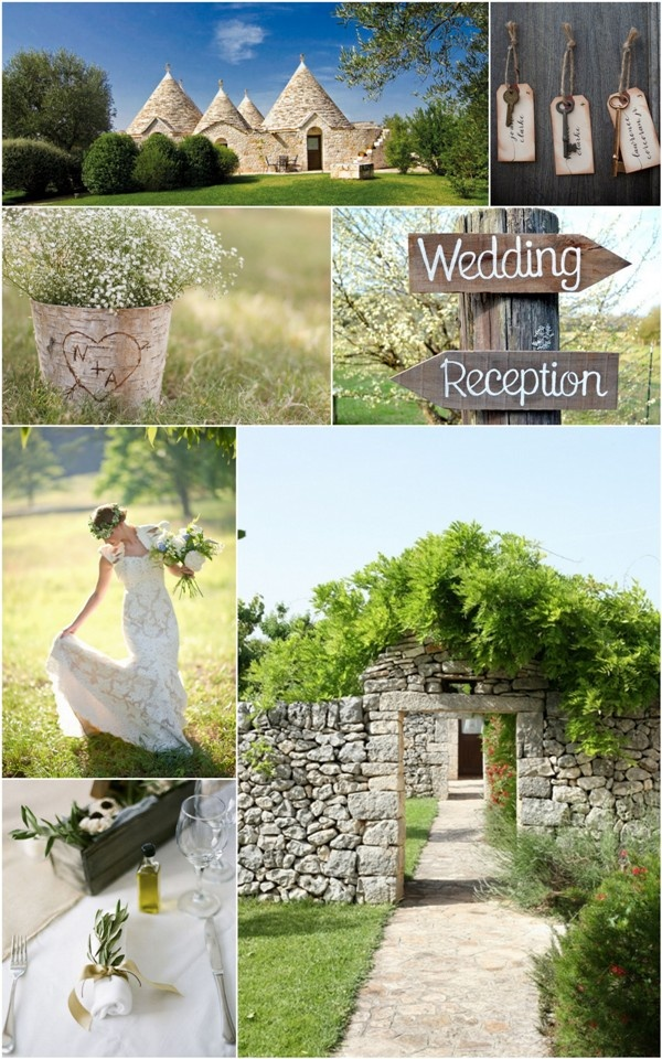 inspiration for a country wedding in Apulia