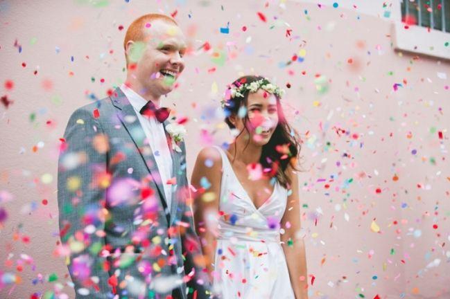 Trend Alert Photograph A Fantastic Confetti Toss Unique Wedding Photo Ideas With
