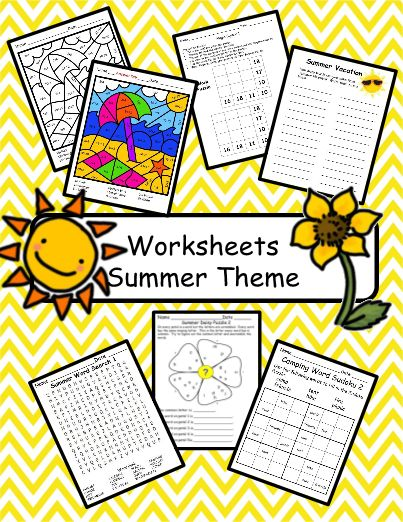 This product is a collection of worksheets to use with a summer theme. Sometimes all you need is a worksheet to keep students engaged for a few minutes. This resource includes word searches, scrambled letters, word sudoku, magic squares, and color by code.