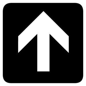 Up Arrow sign