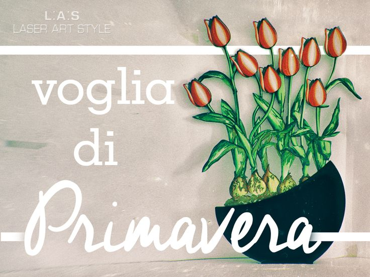 We want spring! http://www.laserartstyle.it/home/gallery/vasi/ #vases #tulips #interiordesign