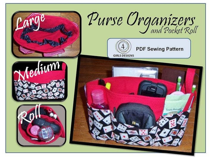 iPad and iPad Mini, Nook HD Tablets, size 3 Purse Organizer Inserts (PDF Sewing Pattern) Carries iPad and Other eReaders Too. $8.00, via Etsy.