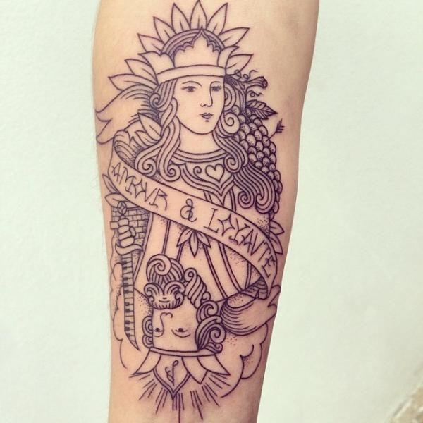 Tatouage Bras Carte par Supakitch