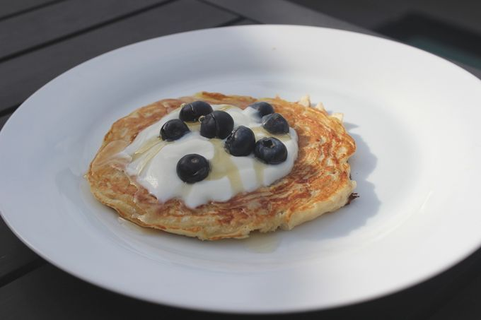 We've created a lovely wholesome breakfast pancake recipe for you to try out with an American style twist, using buttermilk, oats, cranberries and pistachios.