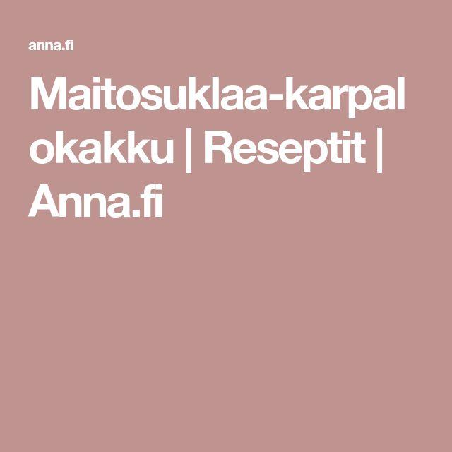 Maitosuklaa-karpalokakku | Reseptit | Anna.fi
