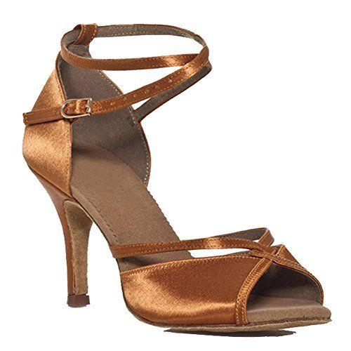 CC Womens Satin Latin Tango dance shoes Bronze US Size 6 * You can get additional details at the image link.(This is an Amazon affiliate link and I receive a commission for the sales)